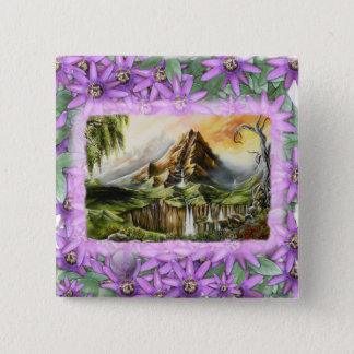 mnt with prple flowers frame button