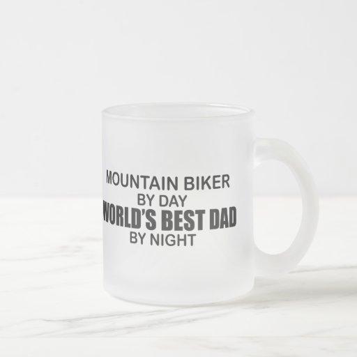 Mntn Biker - World's Best Dad Frosted Glass Coffee Mug