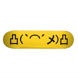 Mo' Angry Emoticon Japanese Kaomoji Skateboard Deck