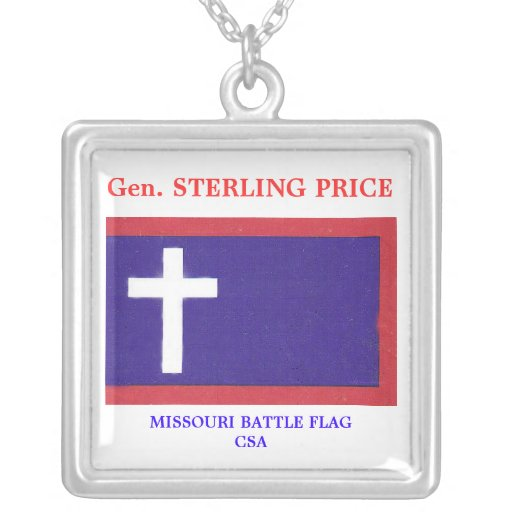 MO BATTLE FLAG, Gen. STERLING PRICE, MISSOURI B... Pendant