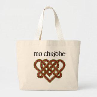 Mo Chridhe - My Heart in Gaelic Large Tote Bag