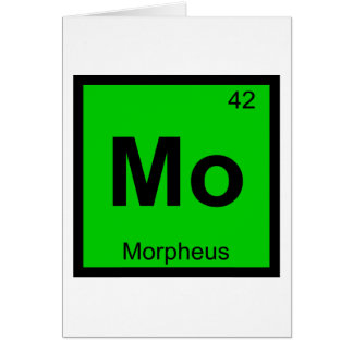 Mo - Morpheus Greek Chemistry Periodic Table Card