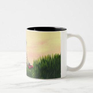 Mo' Mowing Two-Tone Coffee Mug