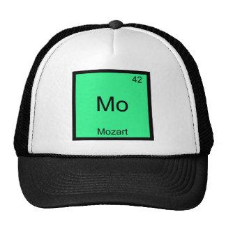 Mo - Mozart Funny Chemistry Element Symbol Tee Mesh Hats