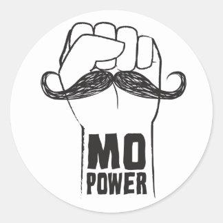Mo Power Round Sticker