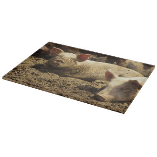 MO: Ste Genevieve, pig farm Cutting Board