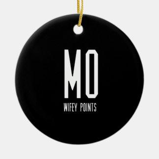 Mo Wifey Points Gear Ceramic Ornament