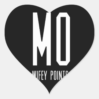 Mo Wifey Points Gear Heart Sticker