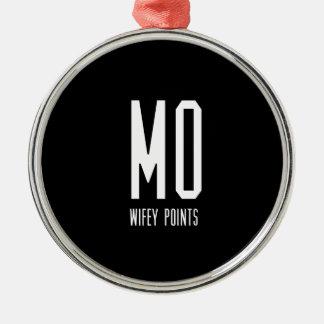 Mo Wifey Points Gear Metal Ornament