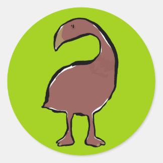 Moa birds classic round sticker