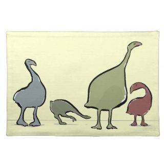 Moa birds cloth place mat