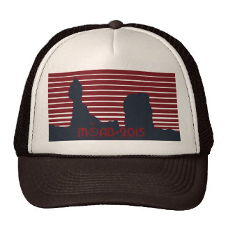 MOAB ALL RED with TAG LINE Brown Trucker Trucker Hat