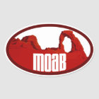 Moab Arches Oval Oval Sticker