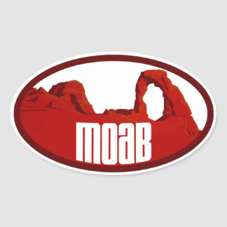 Moab Arches Oval Stickers