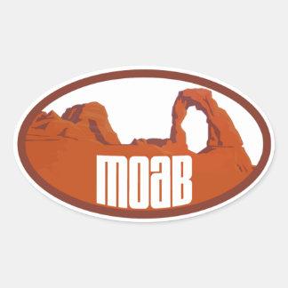 Moab arquea óvalo pegatina ovalada