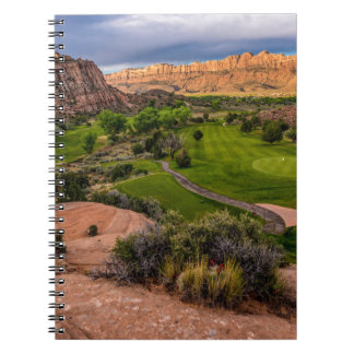 Moab Desert Canyon Golf Course at Sunrise Notebook