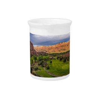 Moab Desert Canyon Golf Course at Sunrise Pitcher