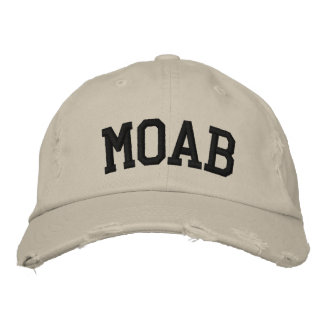 Moab Embroidered Hat Embroidered Baseball Cap