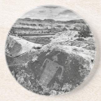 Moab Maiden Petroglyph - Black And White - Utah Coaster