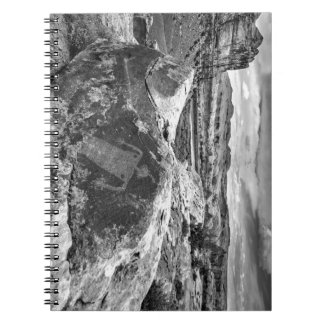 Moab Maiden Petroglyph - Black And White - Utah Notebook