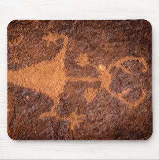 Moab Man Petroglyph Portrait - Utah Mouse Pad