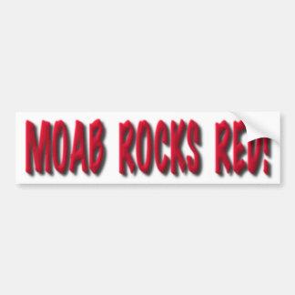 Moab oscila el rojo, pegatina para el parachoques etiqueta de parachoque