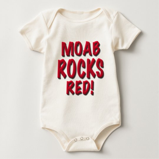 Moab Rocks Red, gifts Baby Bodysuit