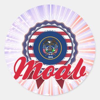 Moab UT Round Sticker