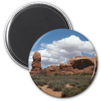 moab utah arch 2 inch round magnet