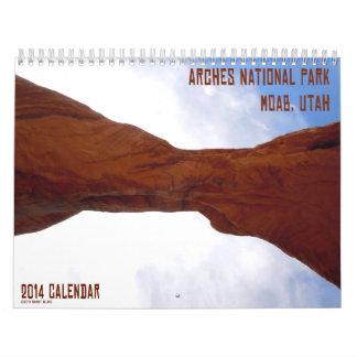 Moab, Utah Arches 2014 Calendar