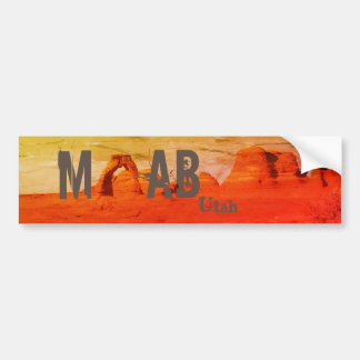 Moab Utah Arches National Park Bumper Sticker