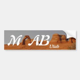 Moab, Utah Etiqueta De Parachoque