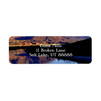 Moab Utah Etiqueta De Remite