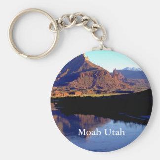 Moab Utah Llavero Redondo Tipo Pin