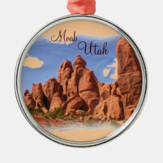 Moab Utah rock formation ornament