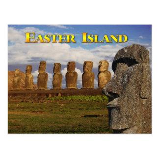 Moai at Ahu Tongariki, Easter Island (Rapa Nui) Postcard