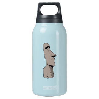 Moai (Easter Island) Statue Insulated Water Bottle