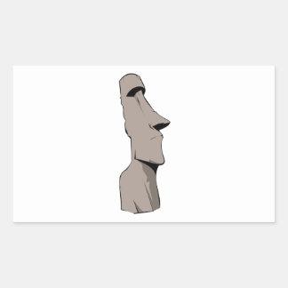 Moai (Easter Island) Statue Rectangular Sticker