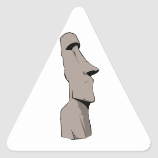 Moai (Easter Island) Statue Triangle Sticker