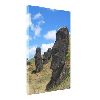 Moai en la isla de pascua impresión en lona