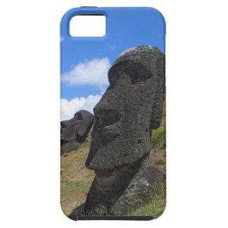Moai en la isla de pascua iPhone 5 carcasa