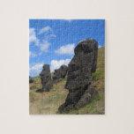 Moai en la isla de pascua puzzle con fotos