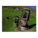 Moai en la isla de pascua (Rapa Nui) Tarjetas Postales