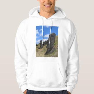 Moai en la isla de pascua sudaderas