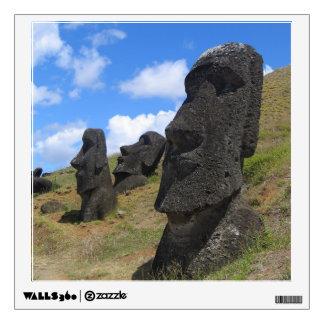 Moai en la isla de pascua vinilo adhesivo