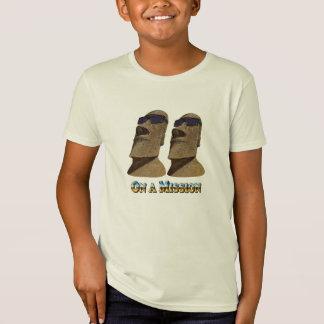 Moai en una misión - camisetas ligeras