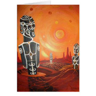 Moai Homeworld Greeting card