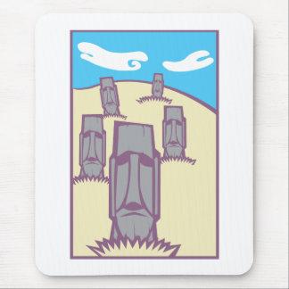 Moai on a Hill Mouse Pad