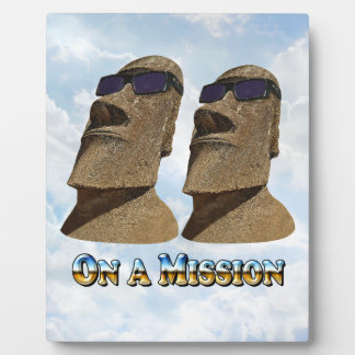 Moai On A Mission 1 - Mult Products Plaque