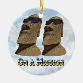 Moai On A Mission 2 - Mult Products Ceramic Ornament
